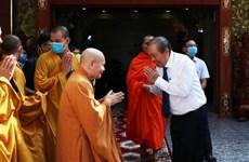 政府副总理张和平前往胡志明市明道寺 祝贺佛历2564年佛诞大典