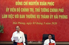 越南政府总理阮春福同海防市领导举行工作座谈会