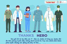 """""""感谢英雄""""活动——向奋战在抗击疫情防控一线的英雄致敬"""