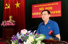 河内市国会代表团与丹凤县选民面对面交流