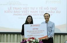 越南国内组织和个人向旅居欧洲越南人赠送疫情防控所需医疗物资