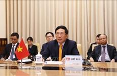 越南政府副总理兼外长范平明在联合国安理会高级别视频会议上发表讲话