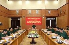 越共第十二届中央委员会第12次全体会议军队代表举行见面会