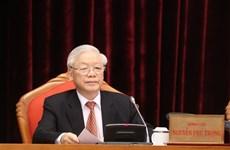 阮富仲:越共第十三届中央委员会要做到团结紧张、严肃活泼,确保全党统一意志、统一行动、步调一致向前进