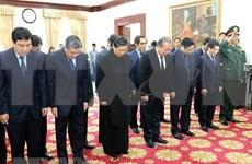 越南党和国家出席原老挝总理西沙瓦·乔本潘大将吊唁仪式