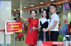 越捷航空公司推出20多万张零越盾起的机票