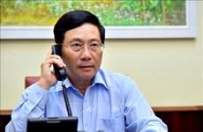 越南政府副总理兼外长范平明与意大利外交与国际合作部长迪马约通电话