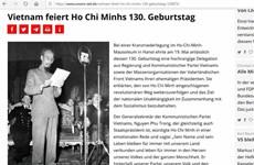 德国媒体隆重报道纪念胡志明主席诞辰130周年的消息