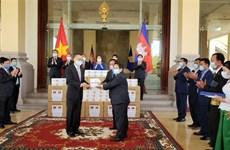 柬埔寨对越南国会捐赠防疫物资表示感谢