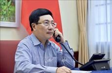 越俄两国外长通电话  讨论推进双方合作措施