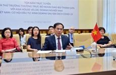 """""""越南:新冠肺炎疫情后的投资经营机会""""视频座谈会在河内举行"""