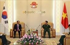 越韩两国努力深化防务合作