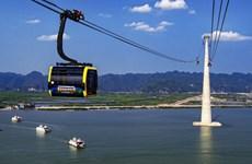 海防市拥有世界最高的缆车塔缆车系统即将投入运行