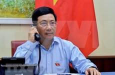 越南政府副总理兼外交部长范平明与埃及外交部长通电话