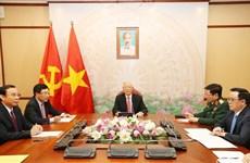越共中央总书记、国家主席阮富仲与俄罗斯联邦总统普京举行电话会谈