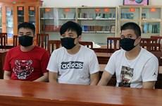 广宁省抓获3名非法入境外籍人员