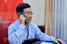 政府副总理兼外长范平明与科威特外长通电话