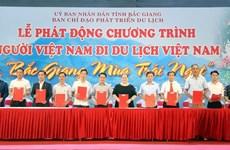 """题为""""瓜果香甜季之北江""""的""""越南人游越南""""活动开幕"""
