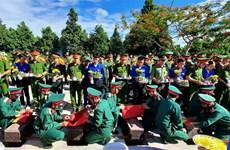 广治省举行越南烈士追悼会和安葬仪式