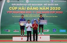 李黄南在2020年海灯杯Masters 500-1越南网球联合会大赛获得男子单打冠军