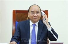越南政府总理阮春福与马来西亚总理慕尤丁通电话