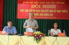 越共中央书记处常务书记陈国旺与安沛省选民面对面交流
