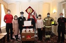 越南向英国和爱尔兰等国捐赠数十万只口罩