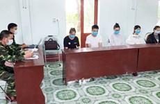 一名劳动人员非法入境被拘留并送往广宁省接受集中隔离