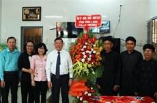 永隆省领导代表开展和好教人士及和好佛教信徒的慰问活动