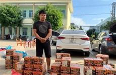 昆嵩省公安机关捕获载运380公斤疑似鞭炮的两辆货车