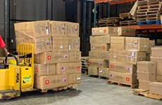 新冠肺炎疫情:河内市向美国纽约市捐赠2吨口罩