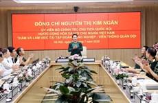 国会主席阮氏金银:Viettel需继续发挥率先构建越南数字生活、数字社会的作用