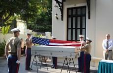 美军遗骸归国仪式在河内举行