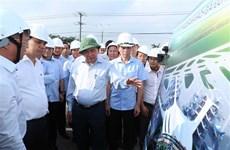 政府总理阮春福视察同奈省隆城国际航空港项目征地拆迁工作