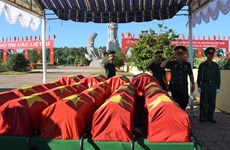 7·27伤残军人与烈士日:同塔省为52名志愿军烈士举行追悼会