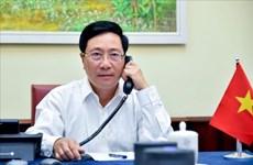 政府副总理兼外长范平明与韩国外交部长康京和通电话