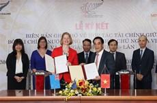 越南与新西兰签署财政合作备忘录