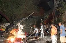 菲律宾一架直升机坠毁致2死1伤2人下落不明