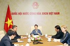 越南国会主席阮氏金银与新西兰议会议长通电话