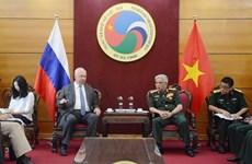 越南国防部副部长阮志咏会见俄罗斯驻越大使