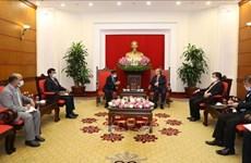 越共中央书记处常务书记陈国旺会见印度驻越大使维尔马