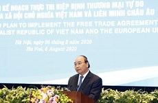 阮春福总理:EVFTA就像一条高速公路一样使越南和欧盟走得更近
