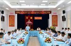 越共中央书记处常务书记陈国旺赴金瓯省调研