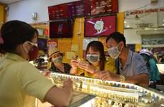 10日下午越南国内黄金价格续大幅下跌