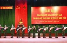 越南人民军代表团出征参加2020年国际军事比赛