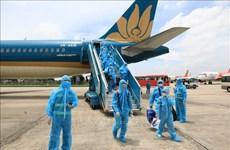 首两趟航班将滞留在岘港的乘客运送回河内