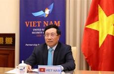越南政府副总理兼外长范平明出席联合国安理会高级别视频公开会