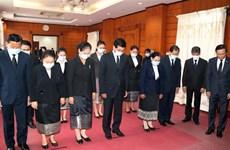 越南驻老挝、新加坡、印尼和柬埔寨大使馆为原越共中央总书记黎可漂举行吊唁仪式