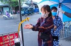 岘港市自动感应手消毒器投入使用