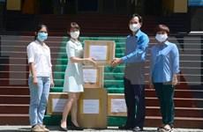越通社继续为岘港市提供医疗防护物资